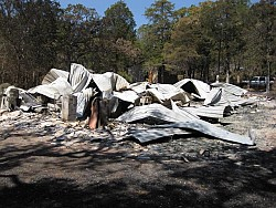 The ruins of the McGinnis home.